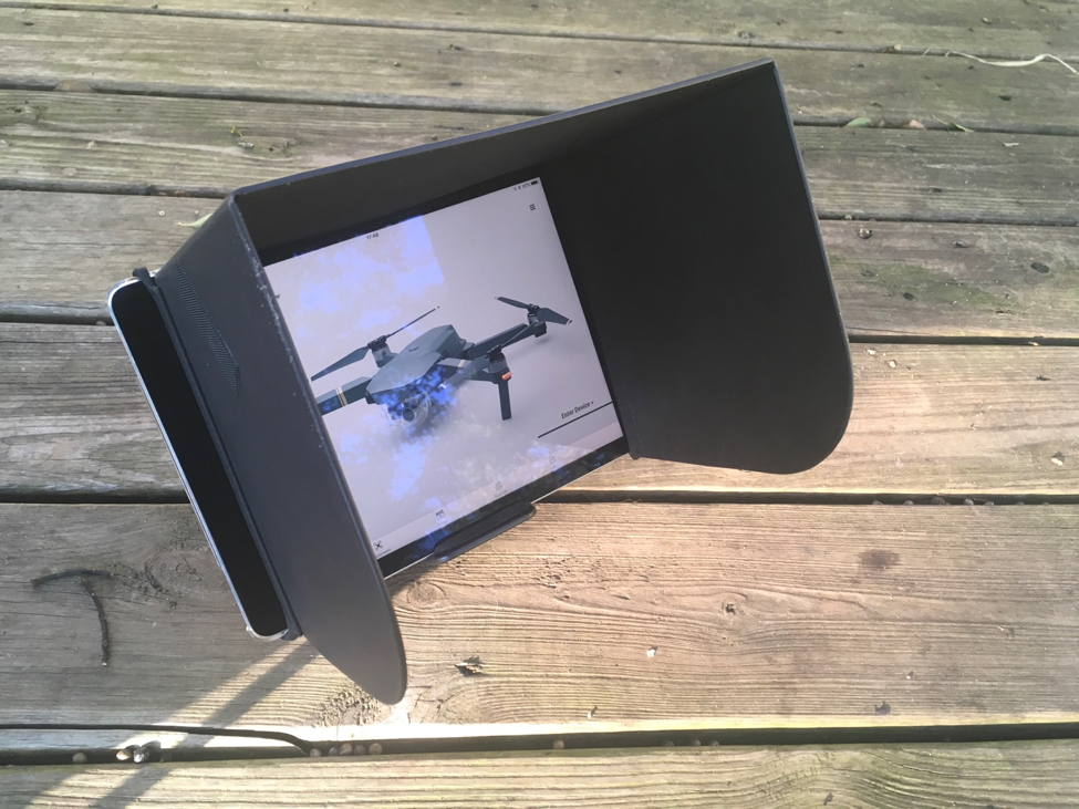 Mavic Pro Mobile Device Sunshade - DARTdrones Drone Academy